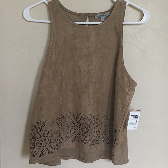 Charlotte Russe Tops - Tan Charlotte Russe tank top, size M, Brand New!